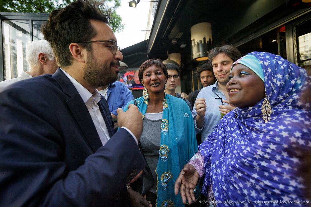 8  June  2017 &ndash; Paris, France<br /> Mounir Mahjoubi receives supporters.