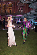 EMILY STEEL; ROBIN WIGHT, V & A Summer party. South Kensington. London. 22 June 2016