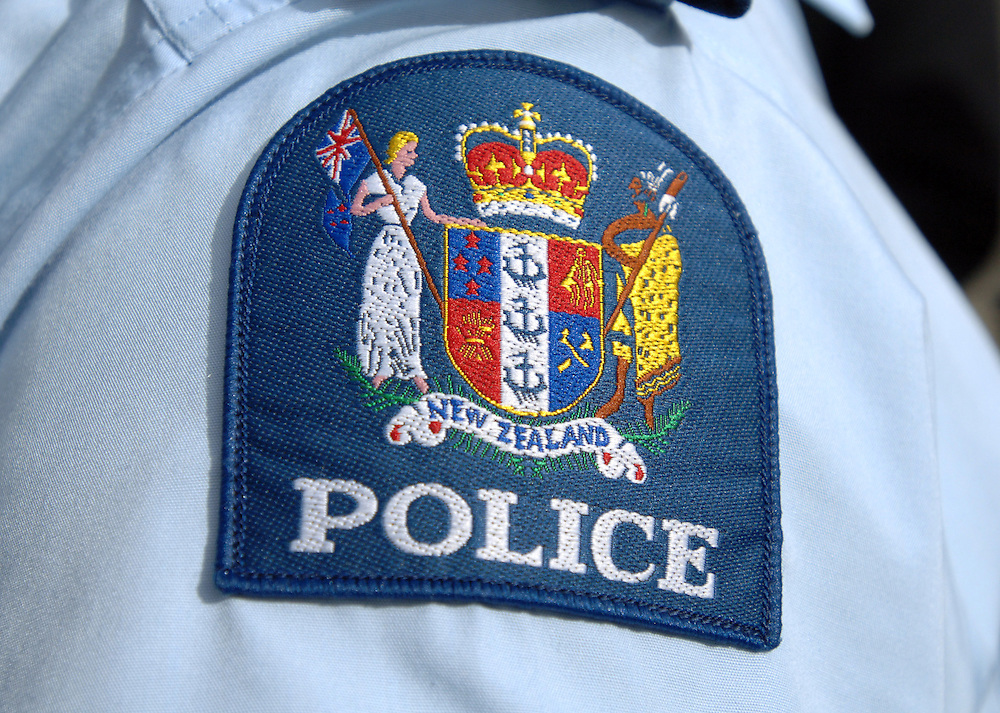 Police monogrammed arm badge, Wellington, New Zealand, Tuesday, October 31, 2006. Credit:SNPA / Ross Setford
