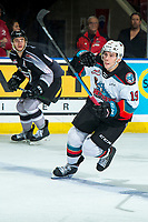 KELOWNA, BC - JANUARY 4:  Ethan Ernst #19 of the Kelowna Rockets skates against the Vancouver Giants at Prospera Place on January 4, 2020 in Kelowna, Canada. (Photo by Marissa Baecker/Shoot the Breeze)