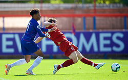 LONDON, ENGLAND - Saturday, September 29, 2018: Liverpool's captain Matty Virtue scores the second goal during the Under-23 FA Premier League 2 Division 1 match between Chelsea FC and Liverpool FC at The Recreation Ground. (Pic by David Rawcliffe/Propaganda)