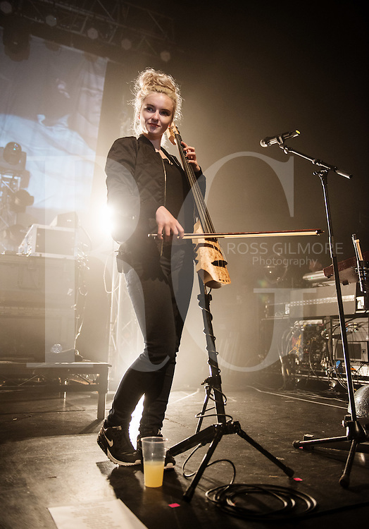 Grace Chatto of Clean Bandit performs on stage at O2 Academy on October 13, 2014 in Glasgow, United Kingdom.