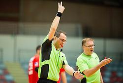Referees Mirko Palackovic and Bojan Brecelj during handball match between RD Slovan and RK Gorenje Velenje in Round #10 of 1. NLB Leasing liga 2015/16, on November 13, 2015 in Arena Kodeljevo, Ljubljana, Slovenia. Photo by Vid Ponikvar / Sportida