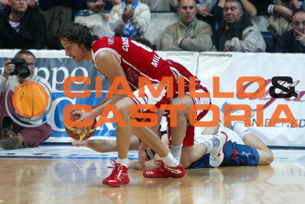 DESCRIZIONE : Milano Lega A1 2005-06 Roseto Basket Armani Jeans Milano <br /> GIOCATORE : Coldebella <br /> SQUADRA : Armani Jeans Milano <br /> EVENTO : Campionato Lega A1 2005-2006 <br /> GARA : Roseto Basket Armani Jeans Milano <br /> DATA : 26/02/2006 <br /> CATEGORIA : Curoisita <br /> SPORT : Pallacanestro <br /> AUTORE : Agenzia Ciamillo-Castoria/G.Ciamillo