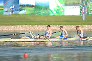 Beijing, CHINA. A Finals, GBR JM4_ Bow, Jack MORRISSEY, Mathew ROSSITER, George NASH and Kieren EMERY at  the  2007. FISA Junior World Rowing Championships,  Shunyi Water Sports Complex. 11/08/2007 [Photo, Peter Spurrier/Intersport-images]..... , Rowing Course, Shun Yi Water Complex, Beijing, CHINA,