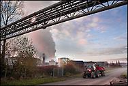 Industrial site in Marconne, France on 15 November, 2007.