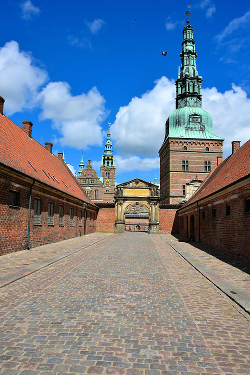 Southern Entrance to to Frederiksborg Castle in Hiller&oslash;d, Denmark <br />