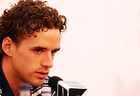 Photo: Chris Ratcliffe.<br />England Press Conference. FIFA World Cup 2006. 13/06/2006.<br />Owen Hargreaves addresses the media.