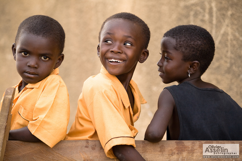 School children.Northern Ghana, Wednesday November 12, 2008.