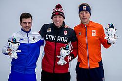 14-02-2018 KOR: Olympic Games day 6, PyeongChang<br /> 10.000 meter schaatsen / Goud voor Ted-Jan Bloemen, zilver voor Jorrit Bergsma en brons voor de Italiaan Nicola Tumolero