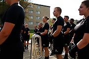 Shadow Drum and Bugle Corps performs in Whitewater, Wisconsin on July 14, 2018. <br /> <br /> Beth Skogen Photography - www.bethskogen.com