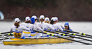 VICTORIA, BC - FEBRUARY 16,2014: The University of Victoria Womens Rowing team races in Eights at the Head of the Shawnigan Rowing Regatta on Sunday February 16, 2014 in Victoria, British Columbia, Canada. (Photo by Kevin Light)<br /> <br /> .