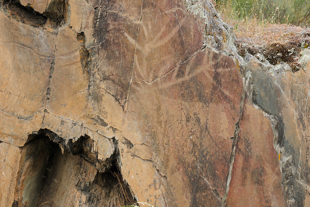 Rock carvings, C&ocirc;a valley Archaeological park,<br /> Portugal