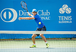 Enzo Couacaud of France during 1st Round of Qualifications at ATP Challenger Tilia Slovenia Open 2016, on August 6, 2016 in Portoroz/Portorose, Slovenia. Photo by Vid Ponikvar / Sportida