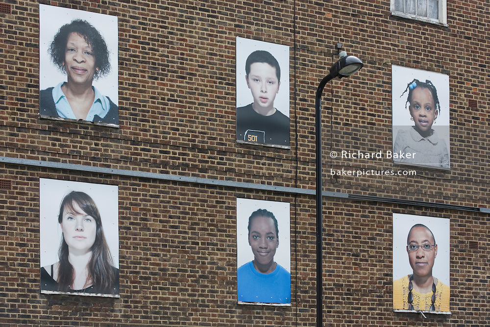 Condemned housing in Dalston/Hackney whose former residents are celebrated in a series of portraits before their demolition.