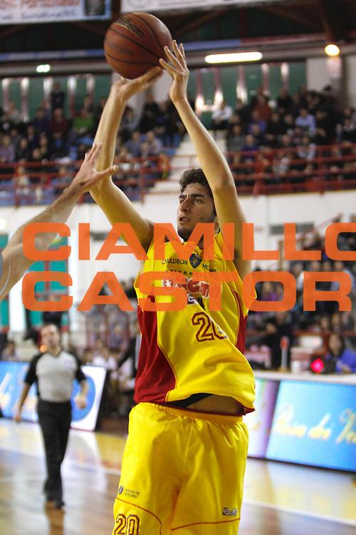 DESCRIZIONE : Barcellona Pozzo di Gotto Campionato Lega Basket A2 2011-12 Sigma Barcellona Tezenis Verona<br /> GIOCATORE : Matteo Da Ros<br /> SQUADRA : Sigma Barcellona<br /> EVENTO : Campionato Lega Basket A2 2011-2012<br /> GARA : Sigma Barcellona Tezenis Verona<br /> DATA : 26/02/2012<br /> CATEGORIA : Ritratto Tiro<br /> SPORT : Pallacanestro <br /> AUTORE : Agenzia Ciamillo-Castoria/G.Pappalardo<br /> Galleria : Lega Basket A2 2011-2012 <br /> Fotonotizia : Barcellona Pozzo di Gotto Campionato Lega Basket A2 2011-12 Sigma Barcellona Tezenis Verona<br /> Predefinita :