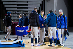 Miha Lapornik, Sasa Zagorac during practice session of Slovenian National Basketball team before qualification matches for FIBA Basketball World Cup 2019, on February 20, 2017 in Arena Stozice, Ljubljana, Slovenia. Photo by Urban Urbanc / Sportida
