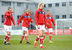 Poppy Pattinson of Bristol City warms up- Mandatory by-line: Nizaam Jones/JMP- 31/03/2019 - FOOTBALL - Stoke Gifford Stadium - Bristol, England - Bristol City Women v Reading Women - FA Women's Super League 1