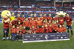 February 3, 2019 - Pamplona, Spain - Main team of CA Osasuna and the children of the Osasuna Foundation are seen before the Spanish football of La Liga 123, match between CA Osasuna and  Granada CF at the Sadar stadium, in Pamplona (Navarra), Spain. (Credit Image: © Fernando Pidal/SOPA Images via ZUMA Wire)