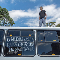 Representantes del sector del transporte apoyan al presidente interino de Venezuela, Juan Guaidó, y se unen a la movilización de ayuda humanitaria. Representatives of the transport sector support the interim president of Venezuela Juan Guaidó and join the mobilization of humanitarian aid