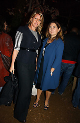 Left to right, FIONA GOLFAR wife of actor Robert Fox and ALEXANDRA SHULMAN at a party to celebrate the publication on 'A Year in My Kitchen' by Skye Gyngell held at The Petersham Nurseries, Petesham, Surrey on 19th October 2006.<br />