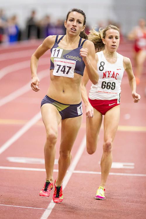 Boston University Valentine Indoor track & field meet: womens mile Lauren Penney Oiselle