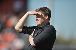 KEVIN NUGENT MANAGER BARNET FC, Barnet v Luton Town EFL Sky Bet League 2 The Hive, Saturday 8th April 2017, Score 0-1<br /> Photo:Mike Capps