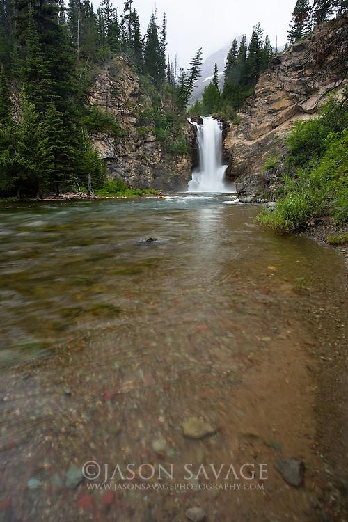 Running Eagle Falls. Glacier National Park, Montana.