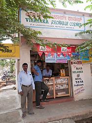 Mobile phone recharging shop, Mysore