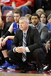31 December 2014:  Greg Lansing during an NCAA Division 1 Missouri Valley Conference (MVC) men's basketball game between the Indiana State Sycamores beat the Illinois State Redbirds 63-61 at Redbird Arena in Normal Illinois