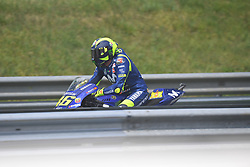 August 12, 2018 - Spielberg, Austria - 46 Italian driver Valentino Rossi of Team Movestar Yamaha MotoGP after of Austrian MotoGP grand prix in Red Bull Ring in Spielberg, Austria, on August 12, 2018. (Credit Image: © Andrea Diodato/NurPhoto via ZUMA Press)