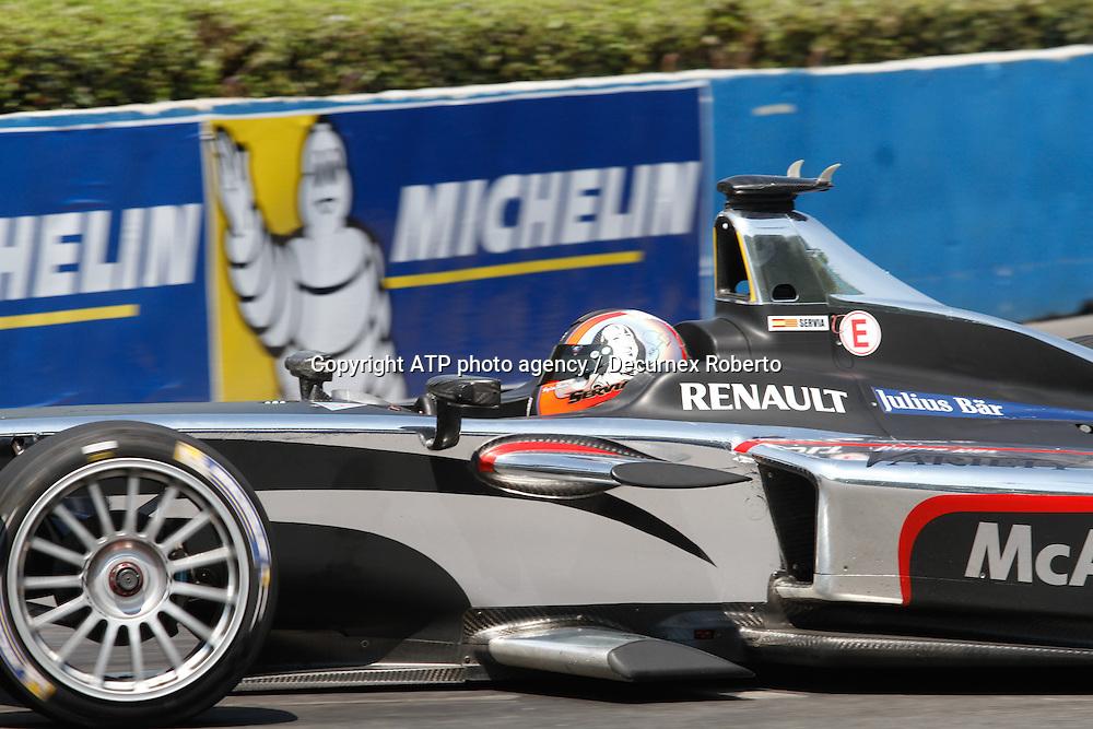 Oriol Servia, (ESP), Dragon Racing, Buenos Aires; January 10th 2015, E-Prix, FIA Formula E, <br /> fee liable image, copyright@ ATP Decurnex Roberto