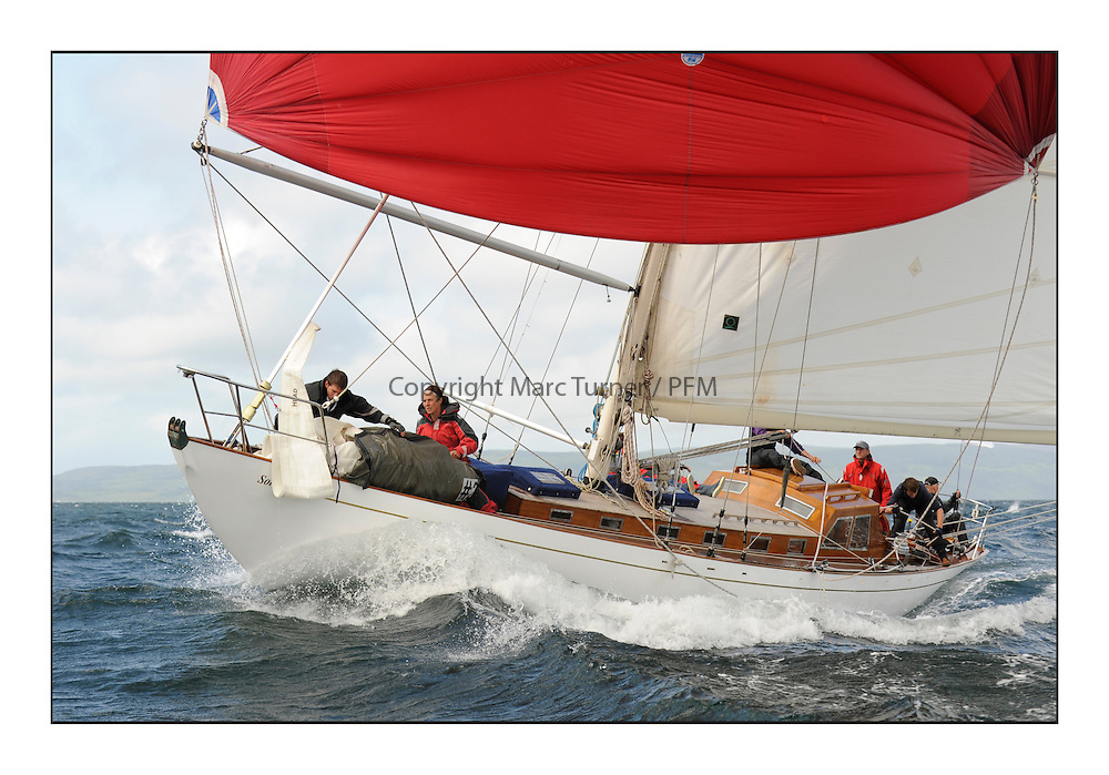 Day five of the Fife Regatta, Race from Portavadie on Loch Fyne to Largs. <br /> <br /> Sonata, Patrick  Caiger-Smith, GBR, Bermudan Sloop, Wm Fife 3rd, 1950<br /> <br /> * The William Fife designed Yachts return to the birthplace of these historic yachts, the Scotland&rsquo;s pre-eminent yacht designer and builder for the 4th Fife Regatta on the Clyde 28th June&ndash;5th July 2013<br /> <br /> More information is available on the website: www.fiferegatta.com