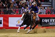 Bastien Bourgeois on Arh Trashy Surprise during the Equestrian NRHA European Derby Open Finals Equita Lyon 2017 on November 4, 2017 at Eurexpo Lyon in Chassieu, near Lyon, France - Photo Romain Biard / Isports / ProSportsImages / DPPI