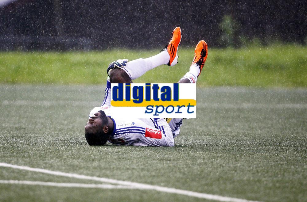 Fotball , 17. juli 2011 , Addecoligaen , 1. divisjon<br /> Strømmen - Sandefjord 0-3<br /> Duwayne Kerr , Strømmen skadet