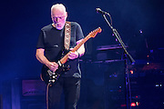 David Gilmour of Pink Floyd performing at Madison Square Garden in New York City on April 12, 2016
