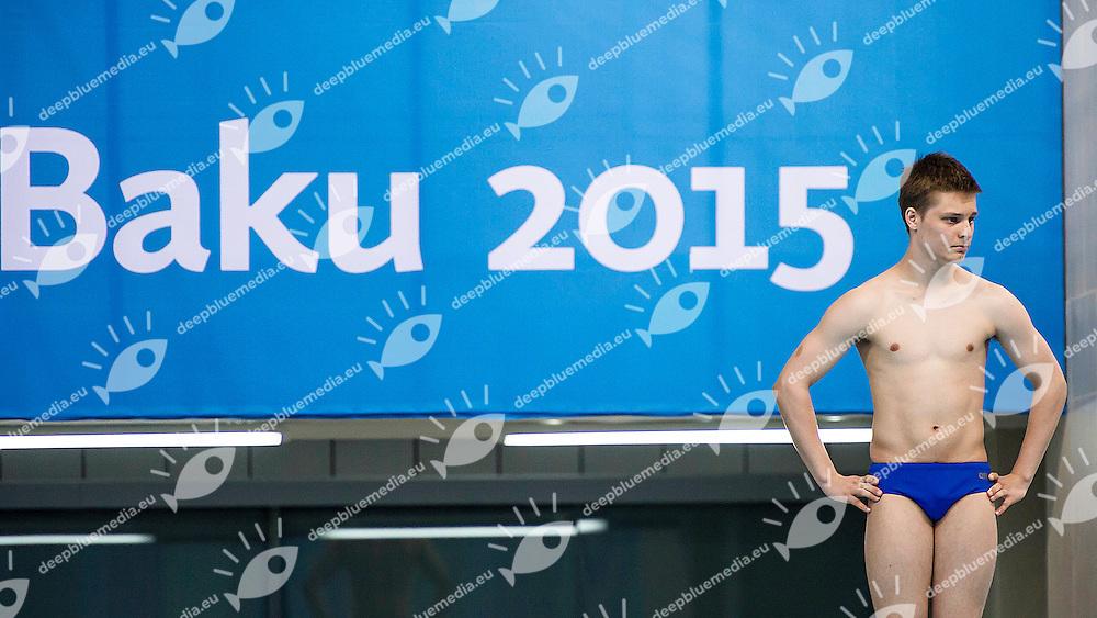 Ian Soren Cabioch MON<br /> 1M_Springboard Heats Diving<br /> 1st European Olympic Games <br /> Baku Azerbaijan 12-28/08/2015<br /> Photo Andrea Masini/Deepbluemedia/Insidefoto
