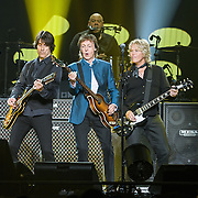 WASHINGTON, D.C. - August 9th, 2016 -  Rusty Anderson, Abe Laboriel Jr., Sir Paul McCartney and Brian Ray perform at the Verizon Center in Washington, D.C. as part of his One on One Tour.  McCartney performed over 30 songs, including songs from The Beatles, The Quarreymen, Wings as well as his solo material.  (Photo by Kyle Gustafson / For The Washington Post)