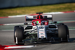 February 21, 2019 - Barcelona, Spain - 99 GIOVINAZZI Antonio (ita), Alfa Romeo Racing C38, action during Formula 1 winter tests from February 18 to 21, 2019 at Barcelona, Spain - Photo  Motorsports: FIA Formula One World Championship 2019, Test in Barcelona, (Credit Image: © Hoch Zwei via ZUMA Wire)
