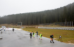 Pokljuka centre during practice session of Slovenian biathlon team before new winter season 2012/13 on November 19, 2012 in Rudno polje, Pokljuka, Slovenia. (Photo By Vid Ponikvar / Sportida)