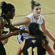 Delaware Sophomore Guard (#22) Lauren Carra drive the line, Carra finished with 10 points as Delaware defeated Towson 75-57 Wednesday at The Bob Carpenter Center In Newark Delaware...Special to The News Journal/SAQUAN STIMPSON