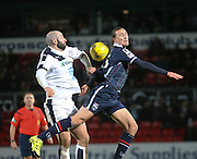 Dundee&rsquo;s Gary Harkins and Ross County&rsquo;s Jackson Irvine - Ross County v Dundee, Ladbrokes Premiership at Victoria Park<br /> <br />  - &copy; David Young - www.davidyoungphoto.co.uk - email: davidyoungphoto@gmail.com