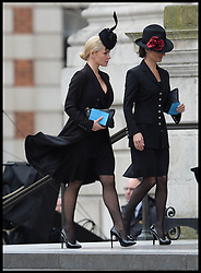 Katherine Jenkins attends Lady Thatcher's funeral at St Paul's Cathedral following her death last week, London, UK, Wednesday 17 April, 2013, Photo by: Andrew Parsons / i-Images