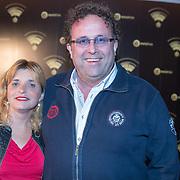 NLD/Hilversum/20180125 - Gouden RadioRing Gala 2017, Rick van Velthuysen en partner Carin van Leeuwen