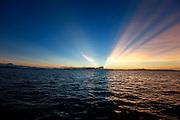 Sunrise over Viti Levu, Mamanucas, Fiji