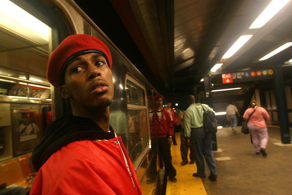 Guardian angels in the street of New-york  city. ....
