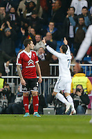 "09.01.2013 SPAIN -  Copa del Rey Matchday 1/16th  match played between Real Madrid CF vs Celta de Vigo (3-0) at Santiago Bernabeu stadium. With ""hat trick"" of Cristiano Ronaldo The picture show"