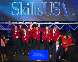 The 2017 SkillsUSA National Leadership and Skills Conference Competition Medalists were announced Friday, June 23, 2017 at Freedom Hall in Louisville. <br /> <br /> Promotional Bulletin Board<br /> <br /> Team X (consisting of Kyle Dempsey, Jackson Minton, Garrett Smoot)<br />   High School Autry Technology Center<br />   Gold Enid, OK<br /> Promotional Bulletin BoardTeam T (consisting of Selena Francis, Evan Allen, Sadenna Swafford)<br />   High School Mingo Central High School<br />   Silver Delbarton, WV<br /> Promotional Bulletin BoardTeam E (consisting of Lauren Smith, Erica Castro, Shelby Balestracci)<br />   High School Harris County High School<br />   Bronze Hamilton, GA<br /> Promotional Bulletin BoardTeam C (consisting of Brian McKee, Chloe Hopper, Chasity Urban)<br />   College Autry Technology Center<br />   Gold Enid, OK<br /> Promotional Bulletin BoardTeam F (consisting of Erin Bias, Alexis McCarthy, Alyssa Lynch)<br />   College South Central College-Mankato<br />   Silver North Mankato, MN<br /> Promotional Bulletin BoardTeam B (consisting of Alba Anaya, Yang Gao, Ileanis Colon Melendez)<br />   College Orange Technical College - Mid-Florida Campus<br />   Bronze Orlando, FL