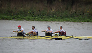 Hammersmith, Greater Game, London, UK. MOLESEY BC / UNIV OF LONDON / OXFORD BROOKES Elite 4-. Bow Scott DURANT, George NASH, Paul BENNETT and Mo SBIHI competing in the 2015 Fours Head of the River Race, River Thames [ opposite Chiswick Eyot]  Saturday  07/11/2015 <br /> <br /> [Mandatory Credit: Peter SPURRIER: Intersport Images]