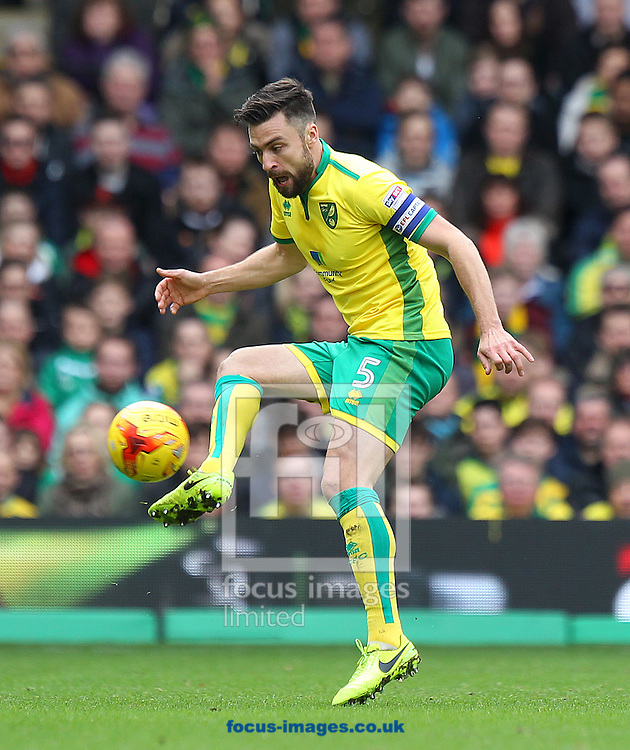 Russell Martin of Norwich in action during the Sky Bet Championship match at Carrow Road, Norwich<br /> Picture by Paul Chesterton/Focus Images Ltd +44 7904 640267<br /> 26/02/2017
